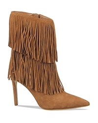 Sam Edelman Belinda Fringe High Heel Boots Saddle