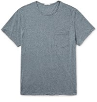 James Perse Slim Fit Melange Cotton Blend Jersey T Shirt Gray