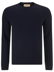 John Lewis And Co. Cotton Silk Cashmere Moss Jumper Navy