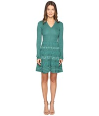 M Missoni Abito Teal Women's Dress Blue