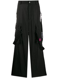 Off White Loose Cargo Trousers Black