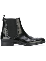 Dolce And Gabbana Brogue Chelsea Boots Black