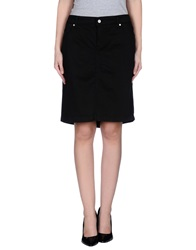 Ajay Knee Length Skirts Black