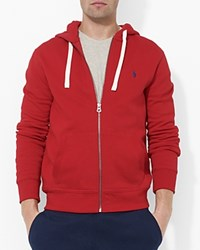 Polo Ralph Lauren Classic Full Zip Fleece Hoodie Red