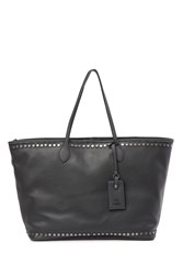 Steve Madden Vivi Flat Studded Work Tote Bag Charcoal