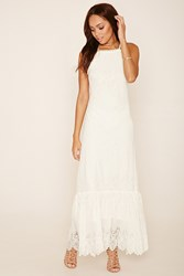 Forever 21 Crochet Lace Cami Maxi Dress