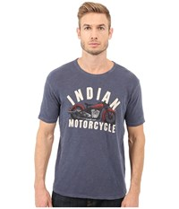 Lucky Brand Indian Motorcycle Graphic Tee American Navy Men's T Shirt