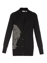 A.L.C. Panther Wool And Alpaca Blend Cardigan