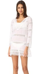 Tory Burch Crochet Lace Dress White