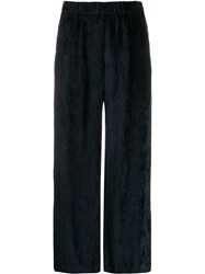 Peserico Micro Pleated Trousers Blue