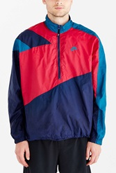 Without Walls Vintage Nike Garnet Stripe Windbreaker Jacket Red Multi