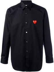 Comme Des Garcons Play Embroidered Heart Shirt Black