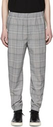 Tim Coppens Grey Wool Check Staple Jogger Trousers
