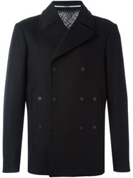 Kenzo Double Breasted Peacoat Black