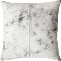 Cb2 Ryker Leather 18 Pillow With Feather Down Insert