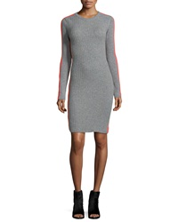 Autumn Cashmere Cashmere Long Sleeve Ribbed Dress