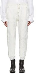 Haider Ackermann White Polonium Lounge Pants
