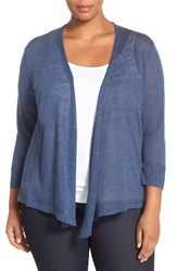 Nic Zoe Plus Size Women's '4 Way' Three Quarter Sleeve Convertible Cardigan Opal