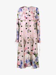 Natasha Zinko Floral Print Midi Kaftan Dress Pink Multi Coloured Mint