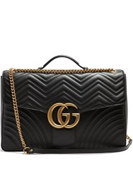 Gucci Gg Marmont Quilted Leather Travel Bag Black