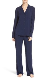 Naked Women's Stretch Modal Pajamas Peacoat Blue