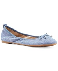 Jessica Simpson Nalan Embellished Ballet Flats Women's Shoes Chambray Blue