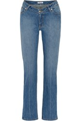 Opening Ceremony Dip Mid Rise Straight Leg Jeans Mid Denim Usd