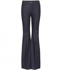 Giambattista Valli X 7 For All Mankind High Waisted Flared Jeans Blue
