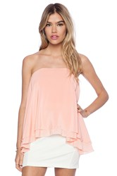 Maurie And Eve Imperial Strapless Top Pink