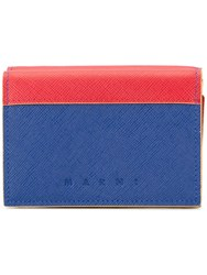 Marni Colour Block Wallet Red