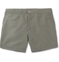 Brunello Cucinelli Slim Fit Mid Length Swim Shorts Gray