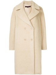 Martin Grant Double Breasted Coat Neutrals