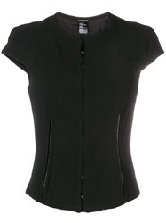 Ann Demeulemeester Structured Front Clasp Top Black