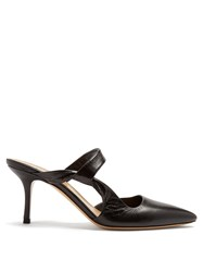 The Row Gala Twist Leather Mules Black