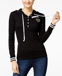 Almost Famous Juniors' Patch Hoodie Black