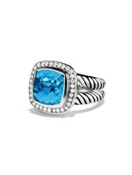 David Yurman Albion Ring With Diamonds Black Orchid Hematine Black Onyx Blue Topaz