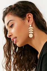 Urban Outfitters Moonphases Statement Drop Earring Gold