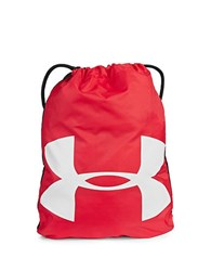 Under Armour Ozsee Logo Print Sackpack Red