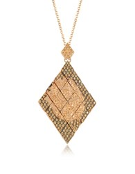 Azhar Rosa Silver And Zircon Pendant Necklace Gold