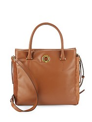 Sergio Rossi Halston Leather And Suede Crossbody Bag Cognac