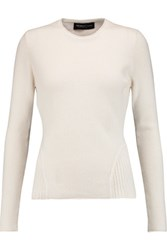 Pringle Of Scotland Fluted Cashmere Sweater Off White
