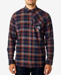 Fox Men's Drezzy Plaid Flannel Shirt Midnight