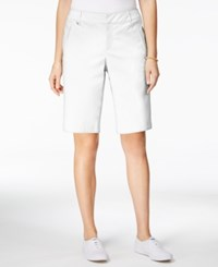 Charter Club Embellished Bermuda Shorts Only At Macy's Bright White