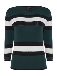 Therapy Brooke Stripe Knit Jumper Green