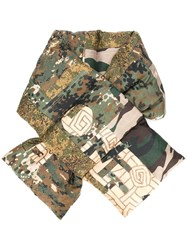Pierre Louis Mascia Padded Camouflage Scarf Silk Goose Down