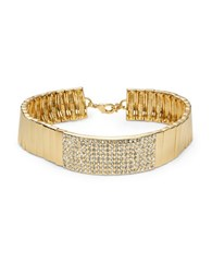 Rj Graziano Bar Accented Collar Necklace Gold