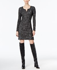 Inc International Concepts Faux Leather Trim Sheath Dress Only At Macy's Deep Black