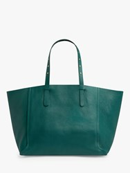 Gerard Darel Simple Two Leather East West Tote Bag Green