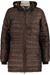 Canada Goose Camp Hooded Quilted Shell Jacket Brown