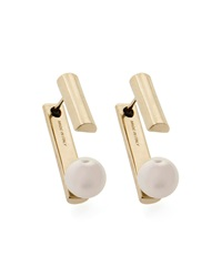 Gold Plated Pearly Jacket Earrings Jason Wu